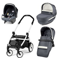 Peg-Perego Elite Luxe Mirage Book Plus 51 black/white коляска 3 в 1