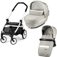 Peg-Perego Elite Luxe Pure Book Plus 51 black/white коляска 2 в 1