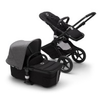 Bugaboo Fox 2 black/grey melange коляска 2 в 1 шасі black