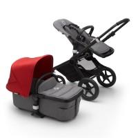Bugaboo Fox 2 grey/red коляска 2 в 1 шасі black