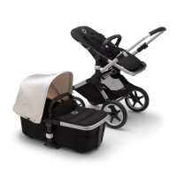 Bugaboo Fox 2 black/fresh white коляска 2 в 1 шасі Aluminum