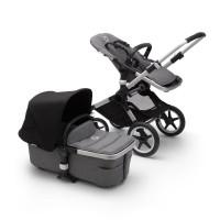 Bugaboo Fox 2 grey/black коляска 2 в 1 шасі Aluminum