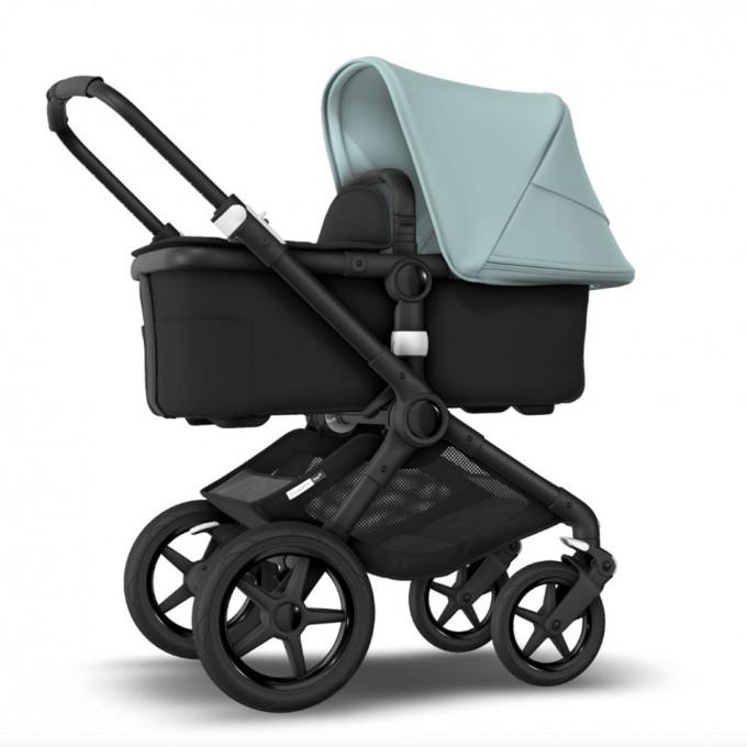 Bugaboo Fox 2 vapour blue коляска 2 в 1 шасі Black