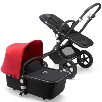 Bugaboo Cameleon 3 Plus red коляска 2 в 1 шасі black