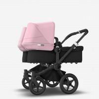 Bugaboo Donkey 3 Black Twin коляска для двійні 2 в 1 soft pink
