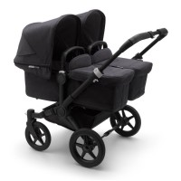Bugaboo Donkey 3 Black Twin коляска для двійні 2 в 1 washed black