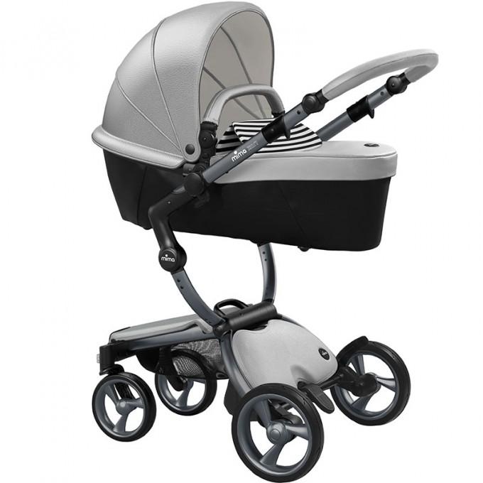 Mima Xari argento шасі graphite grey коляска 2 в 1