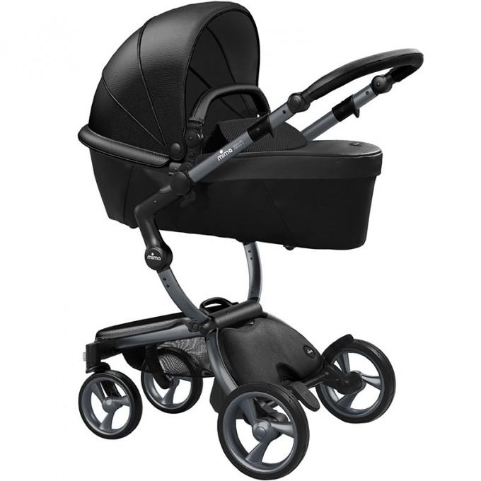 Mima Xari black шасі graphite grey коляска 2 в 1