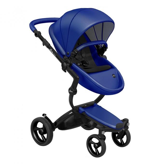 Mima Xari royal blue шасі black коляска 2 в 1