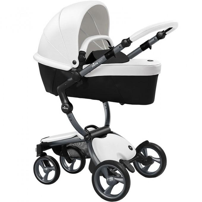Mima Xari snow white шасі graphite grey коляска 2 в 1