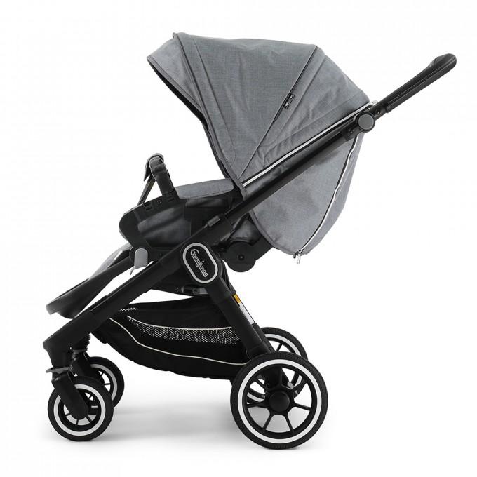 Прогулянкова коляска Emmaljunga NXT60 Black FLAT Lounge Grey Eco
