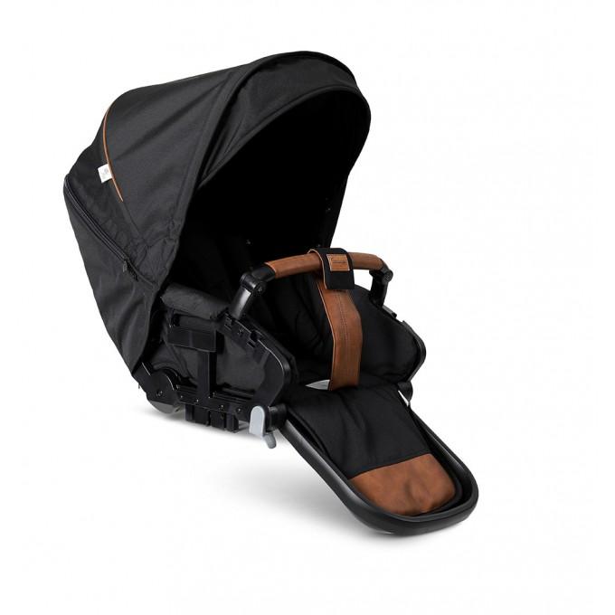 Emmaljunga NXT60 Silver FLAT Outdoor Black Eco