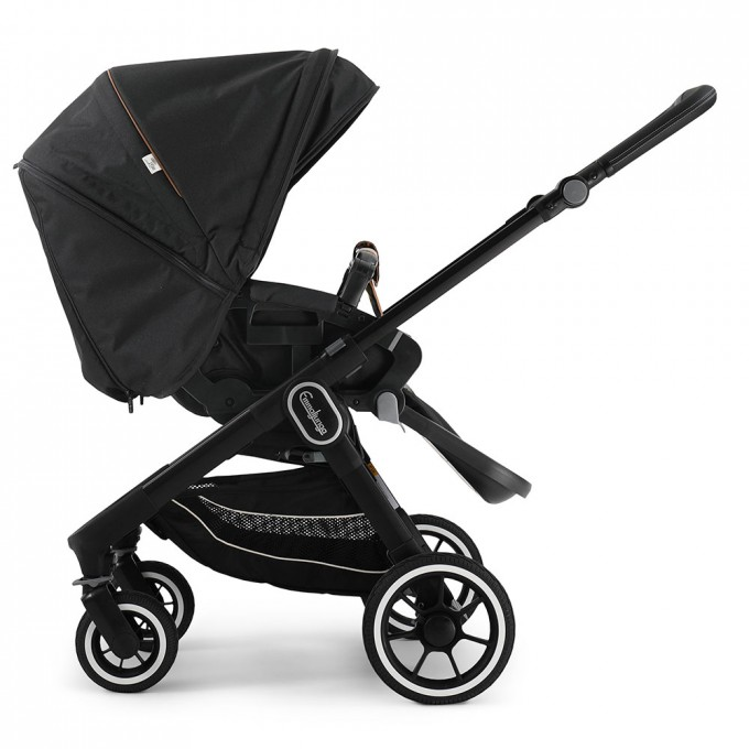 Прогулянкова коляска Emmaljunga NXT60 Black FLAT Outdoor  Black Eco