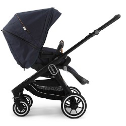 Прогулянкова коляска Emmaljunga NXT60 Black FLAT Outdoor Navy Eco