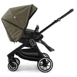 Прогулянкова коляска Emmaljunga NXT60 Black FLAT Outdoor Olive Eco