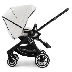 Прогулянкова коляска Emmaljunga NXT60 Black FLAT White Leatherette