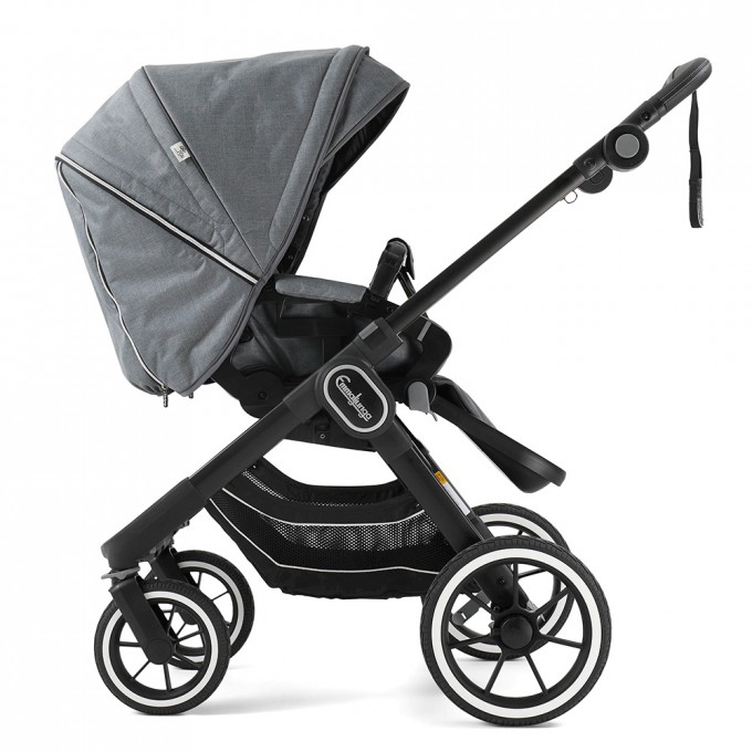 Прогулянкова коляска Emmaljunga NXT90 Black FLAT Lounge Grey Eco