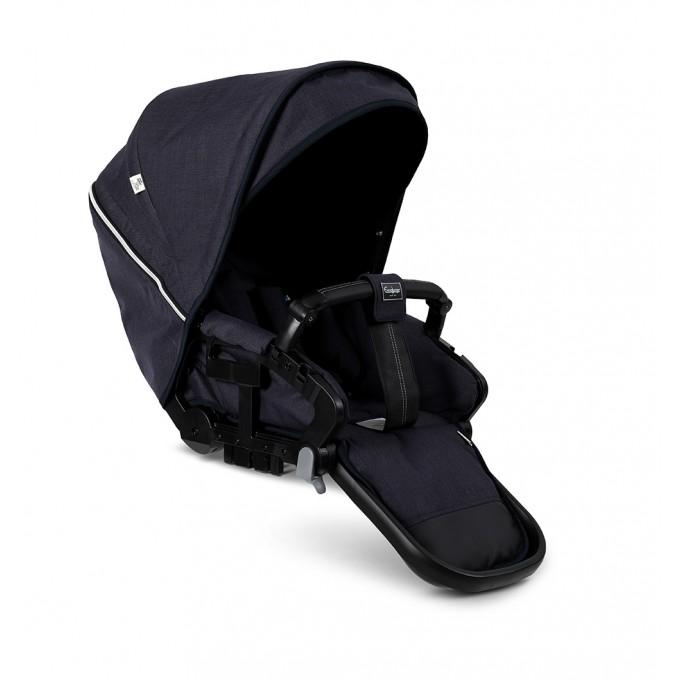 Прогулянкова коляска Emmaljunga NXT90 Black FLAT Lounge Navy Eco
