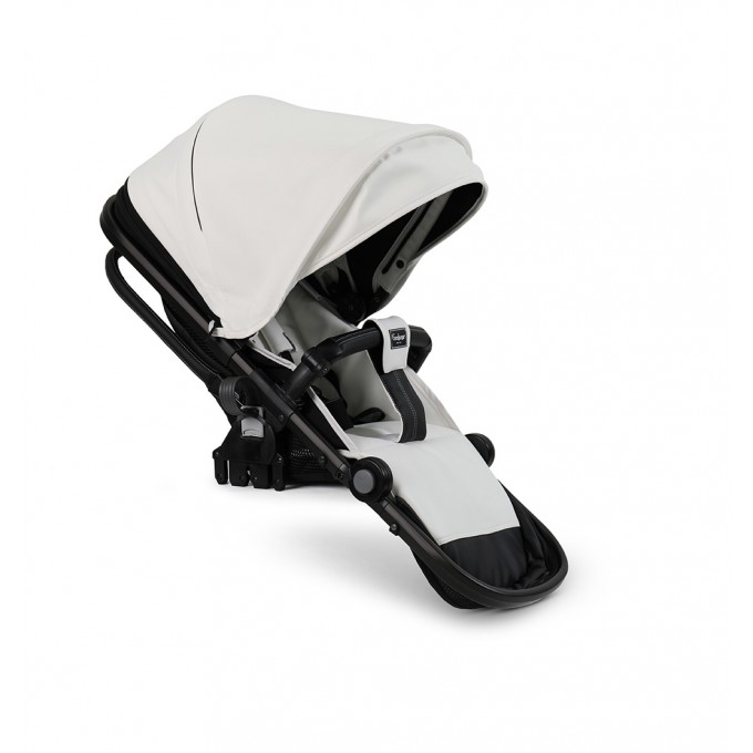 Прогулянкова коляска Emmaljunga NXT90 Black Outdoor Air White Leatherette