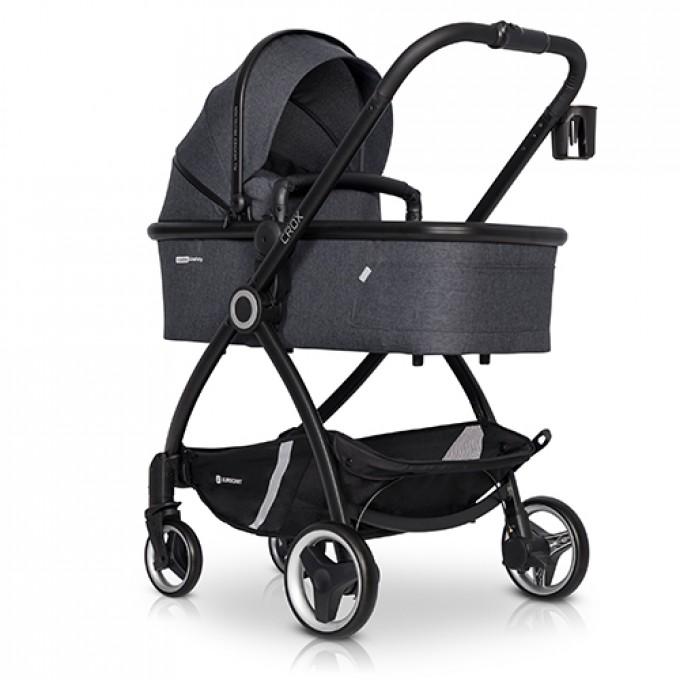 Euro-Cart Crox коляска 2 в 1 Coal